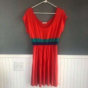 Red, green, and blue knit dress (new without tags)